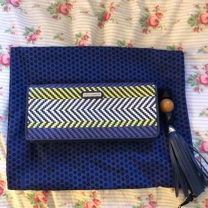 Rebecca Minkoff Honey Leather woven clutch